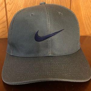 VTG Nike Swoosh Snapback Hat Cap OSFA Olive Green